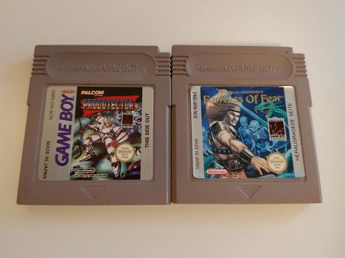 Probotector Game Boy and Wizards & Warriors X – Fortress of Fear for the Game Boy